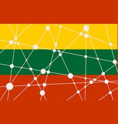 Lithuania flag concept vector