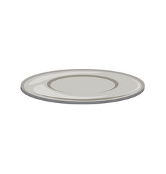 Empty plate round porcelain serve kitchen icon vector