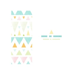 Abstract ikat triangles stripes horizontal vector