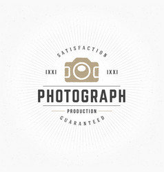 Photographer design element in vintage style for vector