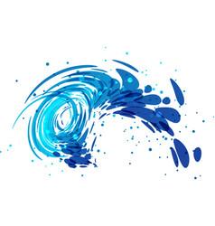 Splash wave on white vector