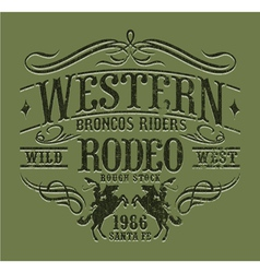Western riders rodeo vector image