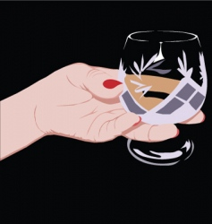 crystal glass vector image