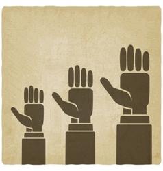 Hands up concept vector