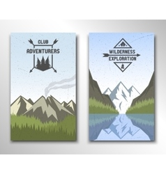 Two banners with the image of nature vector