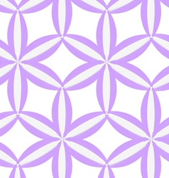 3d colored purple geometrical flower vector