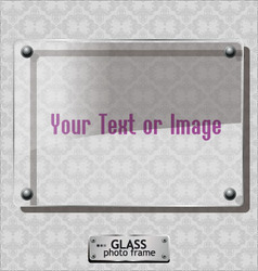 Glass photo frame vector