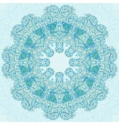Round turquoise abstract design vector