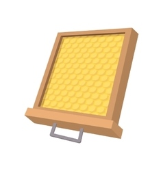 Honeycomb frame cartoon icon vector