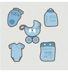 A set of objects for baby1 vector