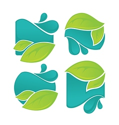 leaves and waters vector image