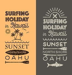 Surfing holiday hawaii vector