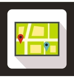 Geo location of taxi icon flat style vector