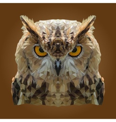 Abstract Low Poly Owl Design vector image