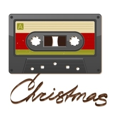 Audio cassette tape film written christmas vector