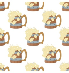 Beer mugs seamless vector image