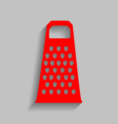 Cheese grater sign red icon with soft vector