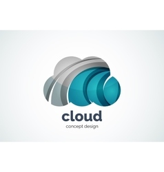 Cloud logo template remote hard drive storage or vector image