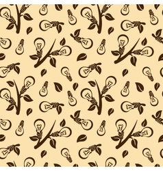 Ecology abstract seamless pattern vector image