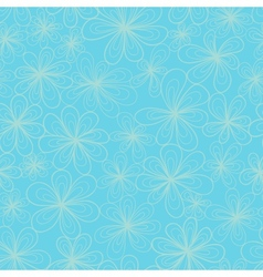 Flowers on blue background vector image vector image