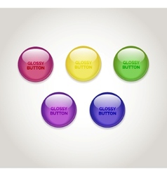 Glossy burrons vector image vector image
