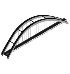 Isometric arch bridge vector