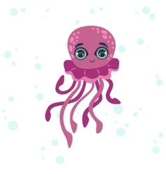 Jelly Fish Drawing vector image