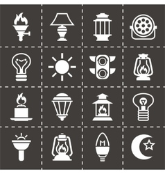 Light icon set vector image vector image