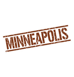 Minneapolis brown square stamp vector
