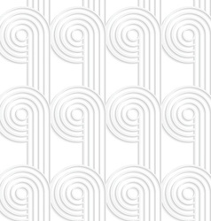 Paper cut out circles with continues stripes vector