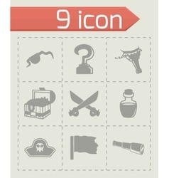 Pirate icon set vector image vector image