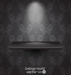 Presentacion shelf black vector