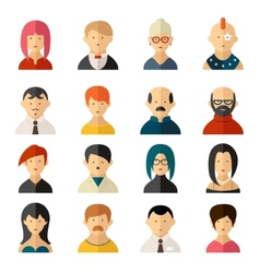 Set of user interface avatar icons vector image vector image