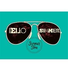 Summer typographic retro poster design vector image vector image