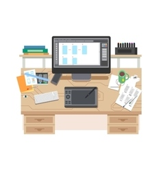 UI and UX app design workspace vector image vector image