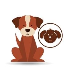 veterinary dog care icon vector image