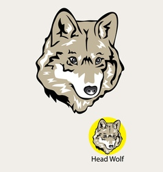 Wolf head logo and emblem vector