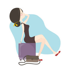 Woman sitting relax vector image
