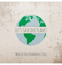 World environment day eco concept template vector
