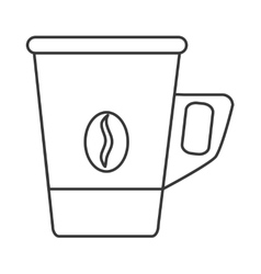 Disposable coffee cup icon vector