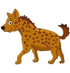 Cute hyena cartoon vector