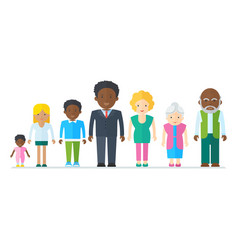 Mixed black family vector