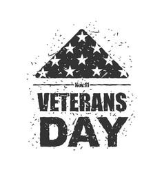 veterans day in usa flag america folded in vector image