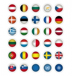 Icons flags vector