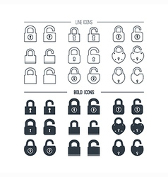 Icons the lock vector