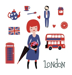 Romantic london clipart vector