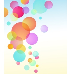 Abstract bubble baloon vector