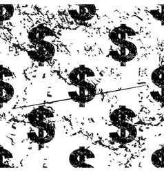 Dollar pattern grunge monochrome vector