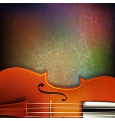 Abstract grunge music background with violin on vector