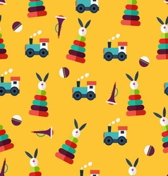 Pattern with kid toys vector